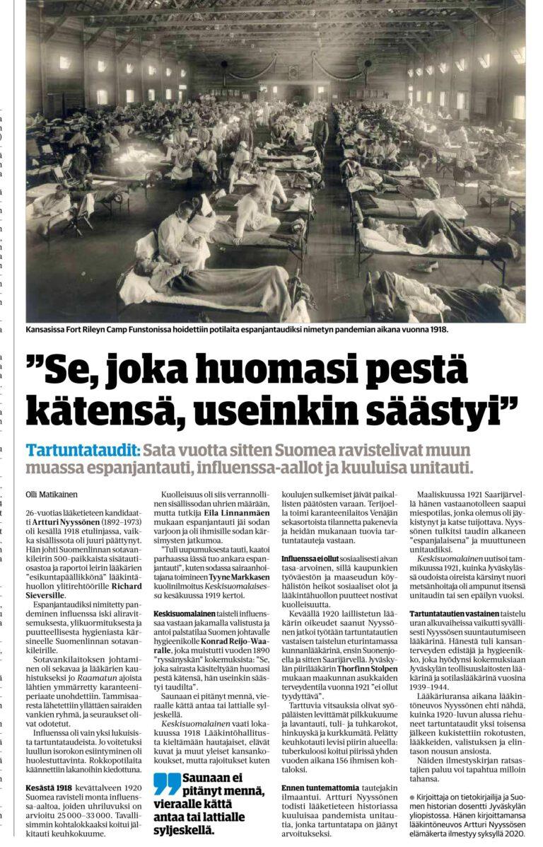 """Artturi Nyyssösen """"tarina"""" julkaistu 1.10.2020"""